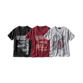 プリント半袖Tシャツ3枚組(トライバル) Tシャツ・カットソー