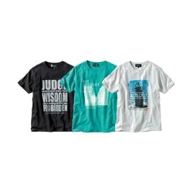 プリント半袖Tシャツ3枚組(フォト風) Tシャツ・カットソー