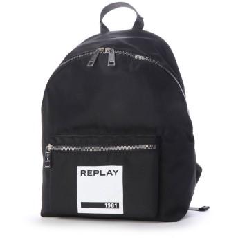 リプレイ REPLAY ナイロンバックパック (ブラック)