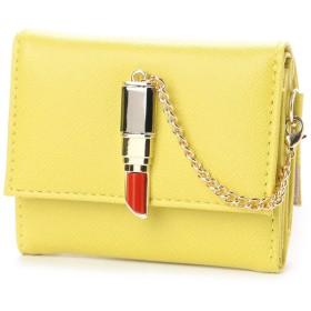 スパイラルガール SPIRAL GIRL 口紅型金具付き折財布 (イエロー)