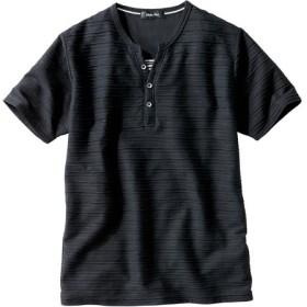 ヘンリーネックデザイン半袖Tシャツ Tシャツ・カットソー