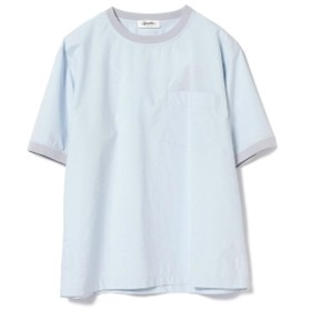 <MEN>GYMPHLEX / タイプライター クルーネック ポケット付き Tシャツ メンズ Tシャツ SAX 40