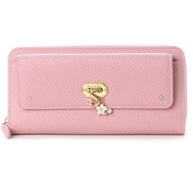 サマンサベガ フラワーモチーフラウンド財布 ピンク