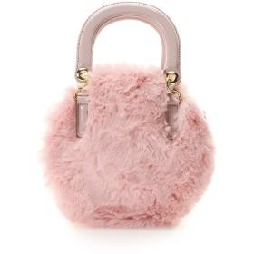 &シュエット サークル型ファーバッグ ピンク