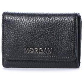 モルガン MORGAN モルガン【MORGAN】3つ折りミニウォレット (ブラック)