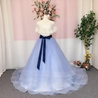 サッシュベルト付け、オーバースカート、ドレスの色直し、ハンドメイドウェディング