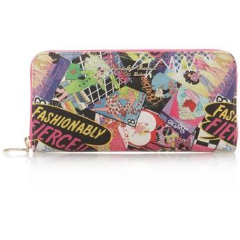 サマンサタバサプチチョイス バービーコレクションお財布シリーズラウンドジップ長財布 フューシャピンク