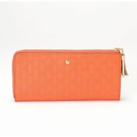 トプカピ TOPKAPI RITMO[リトモ]メッシュ柄型押し・L字型ファスナー長財布 (コーラルオレンジ)
