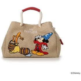 サマンサタバサデラックス 【D23】ファンタジアミッキーマウス/トートバッグ レッド