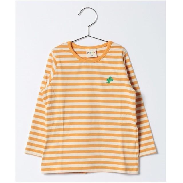 PICNIC MARKET 先染めボーダーTシャツ produced by ミキハウストレード(黄)【返品不可商品】