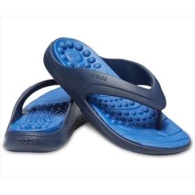 [crocs]クロックス リバイバ フリップ (205545)(4HI) ネイビー/ブルー[取寄商品]