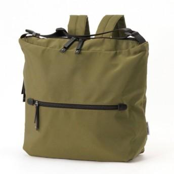 バッグ カバン 鞄 レディース リュック トートバッグに早変わり!2WAYリュック カラー 「カーキ」