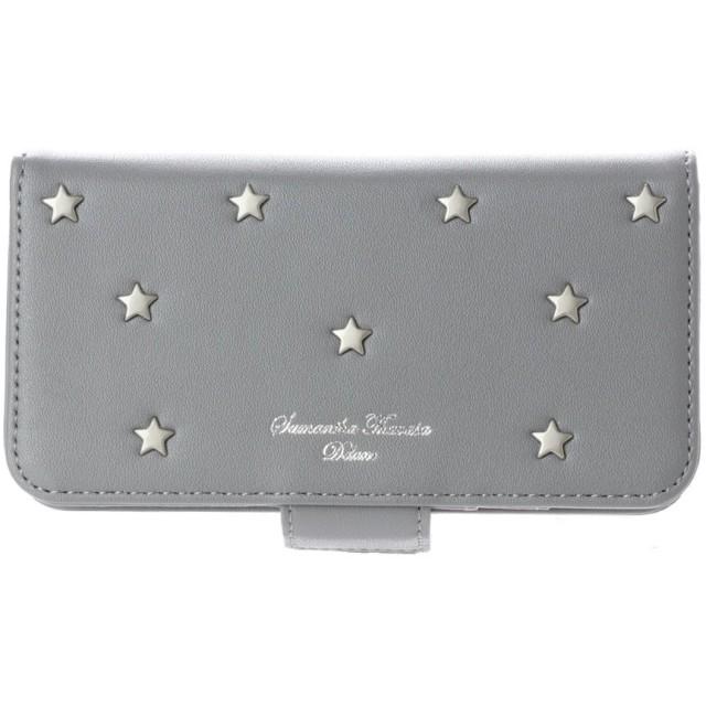サマンサタバサデラックス 星スタッズiphoneケース8 グレー