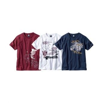 プリント半袖Tシャツ3枚組(和柄) Tシャツ・カットソー