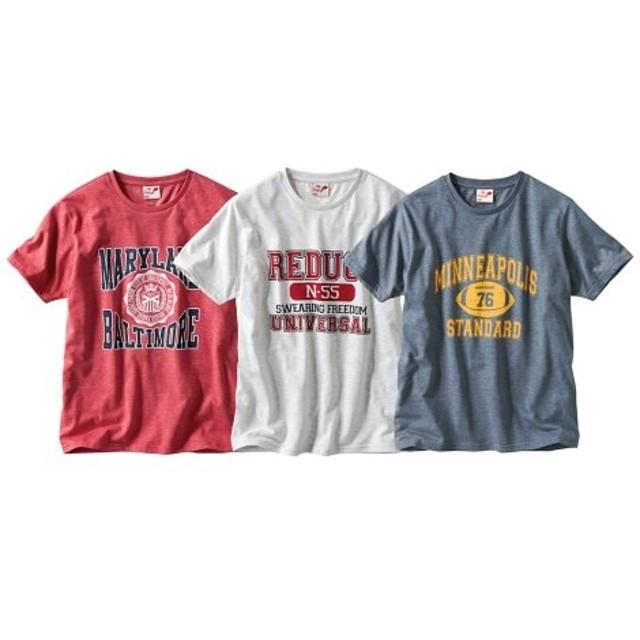 プリント半袖Tシャツ3枚組(アメカジ) Tシャツ・カットソー