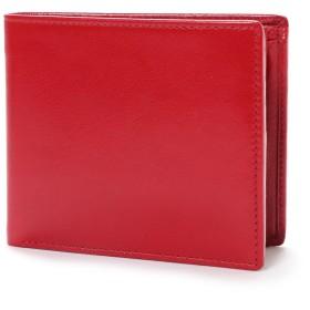 オティアス Otias ベジタブルタンニンなめしバッファローレザー 二つ折り財布/二つ折れコンパクトウォレット (レッド)