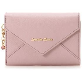 サマンサタバサ レターモチーフ 折財布 ピンク