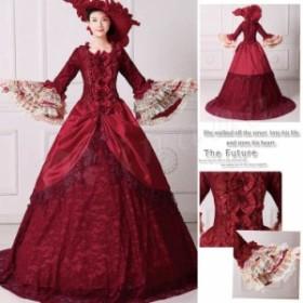 【帽子をプレゼント♪】【6サイズ有S/M/L/XL/2XL/3XL】ロングドレス お姫様カラードレス ステージ衣装 トレーンドレ
