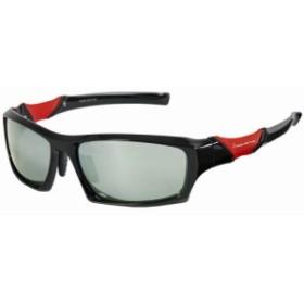 タカミヤ ポリカーボネイト偏光サングラス スポーツ型 ブラック×レッド/ミラー