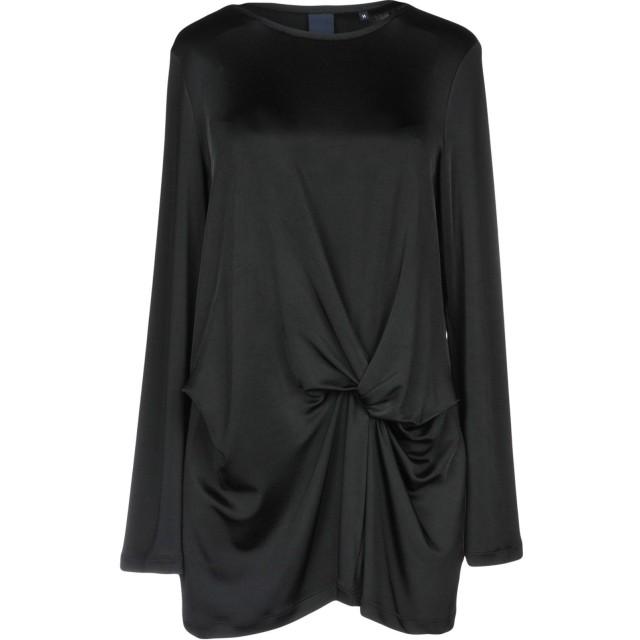 《期間限定セール開催中!》ASPESI レディース T シャツ ブラック M レーヨン 96% / ポリウレタン 4%