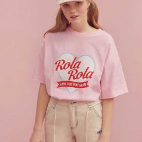rolarola ROLAハートTシャツ ピンク F【税込10,800円以上購入で送料無料】