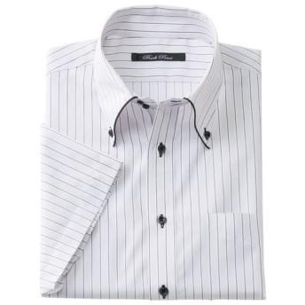 35%OFF【メンズ】 形態安定デザインYシャツ(半袖) ■カラー:ライトグレー ■サイズ:3L