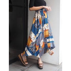 MURUA ムルーア スイッチパターンフレアスカート