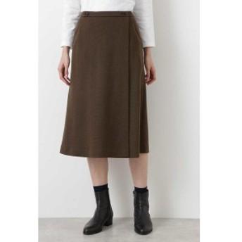HUMAN WOMAN japan couture ウールジャージー巻スカート風Aラインスカート