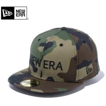 【メーカー取次】 NEW ERA ニューエラ 59FIFTY NEW ERA ブランドネーム ウッドランドカモXブラック 12037933 キャップ 迷彩 カモ柄 メンズ 帽子 ブランド【Sx】
