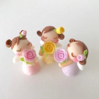 受注製作 砂糖菓子みたいなバラの香りを楽しむ天使さん