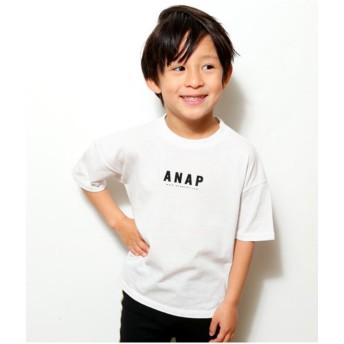 【50%OFF】 アナップキッズ BACKプリントTシャツ レディース ホワイト 100 【ANAP KIDS】 【セール開催中】
