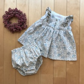 ~LIBERTY PRINT ~Baby girl frills dress and Bloomer
