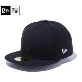 【メーカー取次】 NEW ERA ニューエラ Basic 59FIFTY ベーシック フラッグロゴ ブラックXホワイトロゴ 11914557 キャップ 無地 メンズ 帽子 ブランド