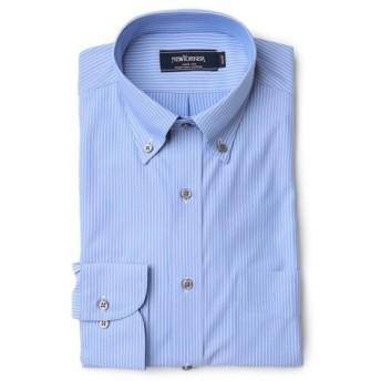 NEWYORKER / 【クリアランスセール】【FLEXY】シングル トリコット ストライプ /長袖ボタンダウンモデレートシャツ