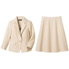 30%OFF【レディース】 洗えるスカートスーツ ■カラー:グレーベージュ ■サイズ:11号,5号(プチサイズ),7号,9号,15号,13号