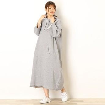 リー(レディース)(Lee)/ロングパーカー ドレス