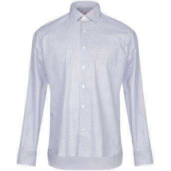 《9/20まで! 限定セール開催中》DOMENICO TAGLIENTE メンズ シャツ ブルー 39 コットン 97% / ポリウレタン 3%