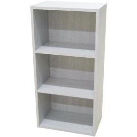 キューブボックス 本棚 インテリア 家具 3段 カラーボックス 可動棚 オフホワイト 44×27.5×89cm