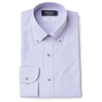 NEWYORKER / 【クリアランスセール】【FLEXY】ミニグラフチェック /長袖ボタンダウンモデレートシャツ
