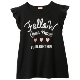 フリル袖ロゴプリントTシャツ(女の子 子供服。ジュニア服) Tシャツ・カットソー