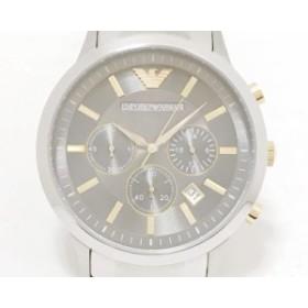 アルマーニ EMPORIOARMANI 腕時計 AR-11047 メンズ クロノグラフ シルバー【中古】