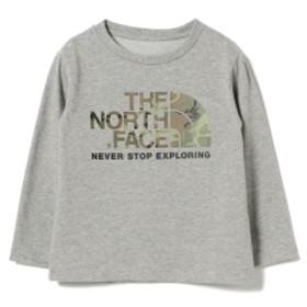 THE NORTH FACE / カモ ロゴ Tシャツ 18 (ユニセックス 80~150cm) キッズ Tシャツ Z)ミックスグレー 90