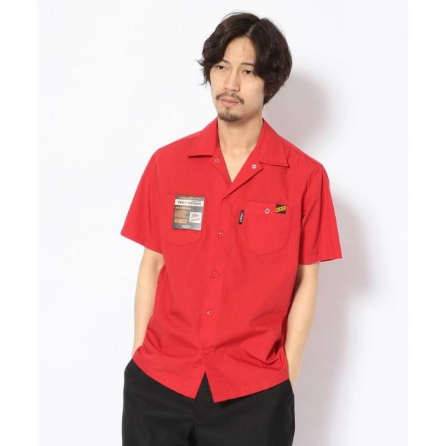 ショット T/C WORK SHIRT/TC 半袖 ワークシャツ メンズ RED XXL 【Schott】