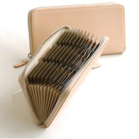 【刻印不可】カード収納39枚! 見やすい特大ジャバラカードケース ベージュ グレージングヌメ MH1186