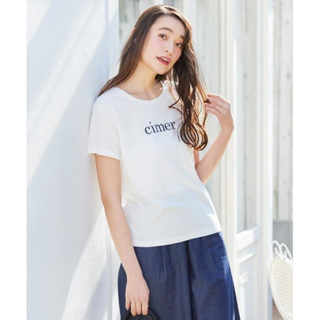 any SiS エニィスィス L'aube クルーネックロゴTシャツ