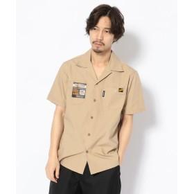 ショット T/C WORK SHIRT/TC 半袖 ワークシャツ メンズ BEIGE XL 【Schott】