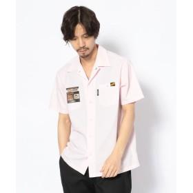 ショット T/C WORK SHIRT/TC 半袖 ワークシャツ メンズ PINK L 【Schott】