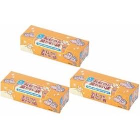 (まとめ買い3箱セット) 袋に入れて結ぶだけ! おむつが臭わない袋BOS 大人用 箱型 Lサイズ 90枚入 3箱計270枚 クリロン化成