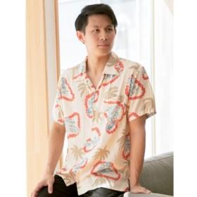 [マルイ] 【Kahiko】椰子&レイMEN'Sアロハシャツ/チャイハネ(CAYHANE)