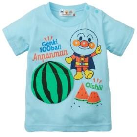 アンパンマン 綿100%すいかがめくれるよ!半袖Tシャツ(男の子 女の子 子供服) Tシャツ・カットソー